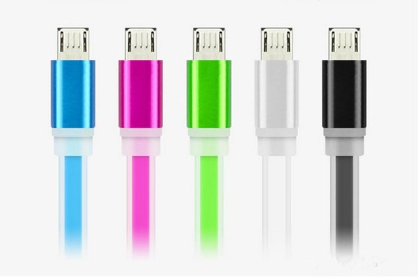 2018 HOT Sale USB charger cable Noodle Sync Data Micro USB Cable Charging Cables Line Charger For ip5 Samsung Galaxy S4 S5 S6 smartphones