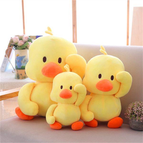 Cute 30cm 40cm Comforting Stuffed Animals Plush Doll Ins Small yellow Duck Baby Companion Sleeping Plush Dolls Toys Novelty kids toys