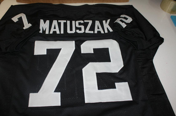 top popular Men John Matuszak #72 Sewn Stitched RETRO JERSEY Full embroidery Jersey Size S-4XL or custom any name or number jersey 2019