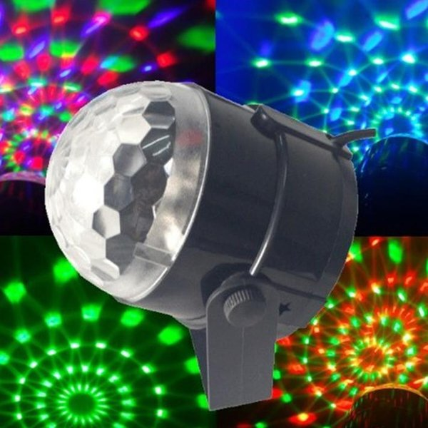 3W Mini RGB LED Proiettore DJ illuminazione Light dance Disco a comando vocale Crystal Magic ball bar Party Natale Stage Lights Show