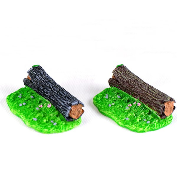 2pcs Resin Craft Fairy Garden Miniatures Bonsai Tools jardin Moss Lawn Stump Terrarium Figurines jardin Gnomes Home Accessories Landscape