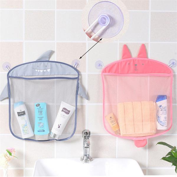 Wall-mounted Mesh Storage Bag Kitchen and Bathroom Self-adhesive Sundries Storage Bags Reusable Make Up Organizer