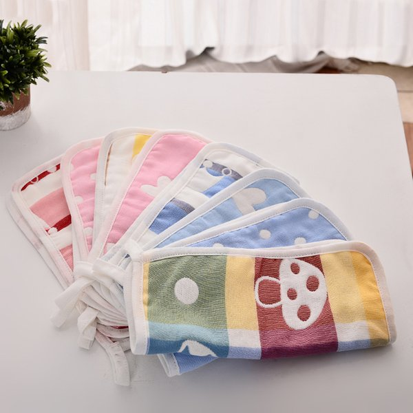 10PC/LOT Children Towels Comfortable Kid Towel Handkerchief Gauze Slobber Face Towel Small Square TRQ1240