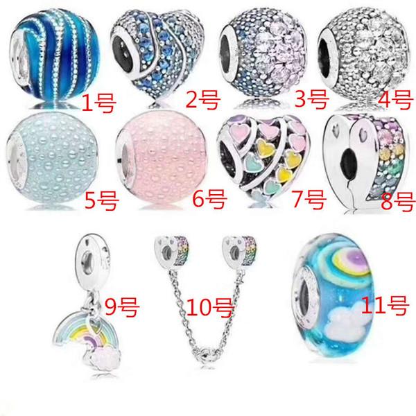 Original S925 Sterling Silber Mutter Herz Perlen für Pandora Charms NecklaceBracelets Schmuckherstellung Baum des Lebens Herzform Anhänger
