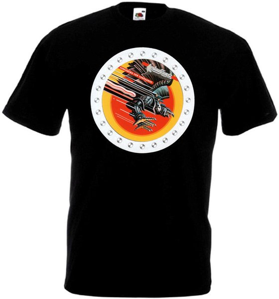 Judas Priest Screaming For Vengeance v.4 T-shirt black poster all sizes S...5XL Summer 100% Cotton Short Sleeve Tops Tee Free shipping tees