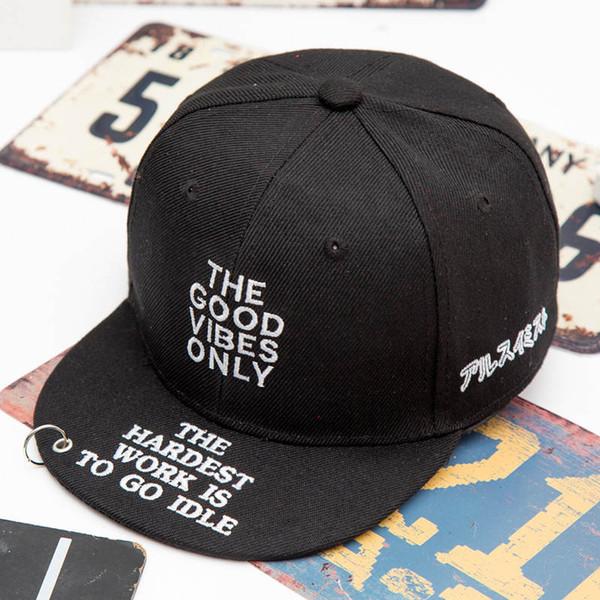 2018 Baumwolle Brief der gute Baseball-Cap Hip-Hop-Mütze Einstellbare Snapback Hats für Kinder Jungen und Mädchen 342