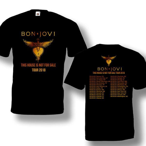 Bon Jovi This House is Not For Sale Tour 2018 Men/'s Black T-Shirt Size S to 3XL