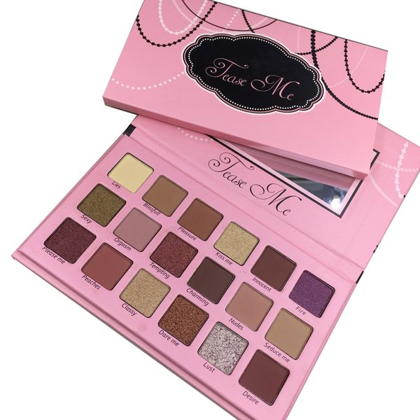 Makeup eye beauty creation 18 color tea e me eye hadow palette highlighter co metic matte and himmer palette dhl hipping