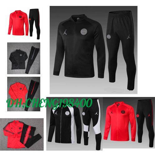 Jordam X PSG jacket suit Champions League Survetement 18 19 PSG MBAPPE football jackets POGBA soccer jogging tracksuit