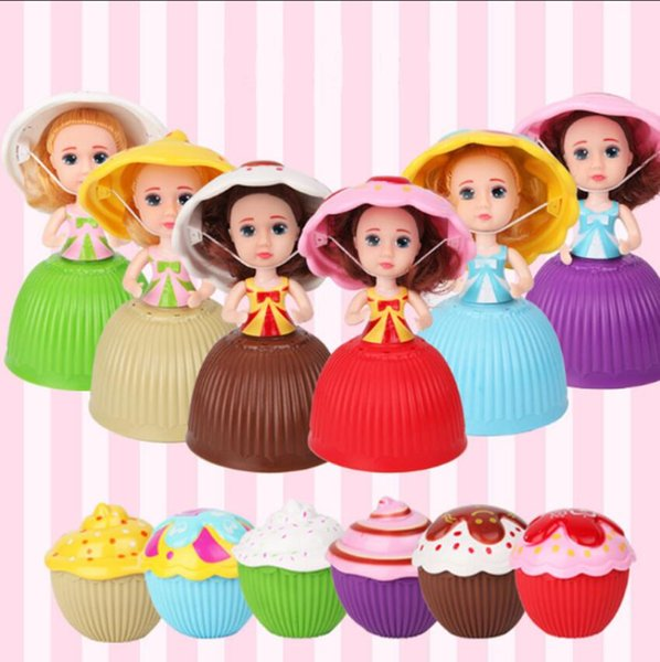 New Mini Cartoon Lovely Cupcake Princess Doll Transformed Scented Beautiful Cute Cake Doll Toy Girls Toys for Children