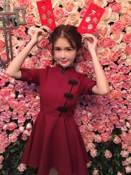 Japonês Harajuku Vintage Gothic Lolita Bodycon Vestido Preto Vermelho Chinês Fino Estilo Cheongsam Vestido