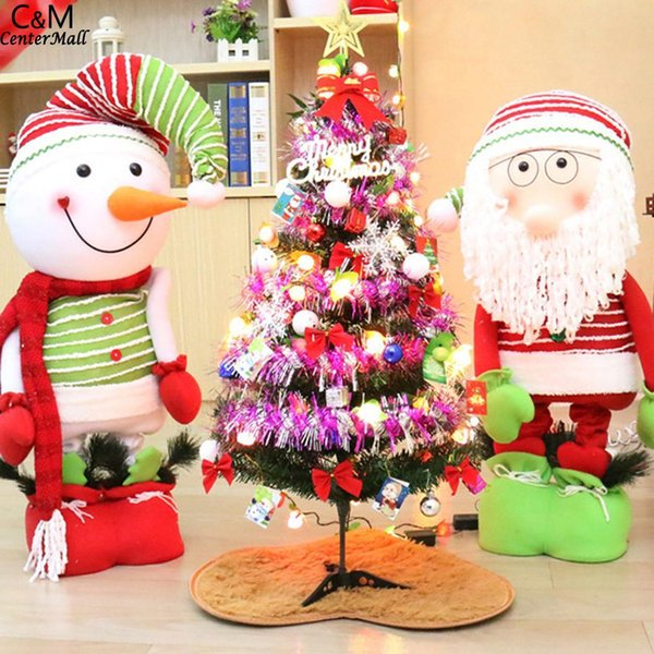 christmas tree decorations Stand Tree Fruit Light PVC Tools Mini Christmas Home Multicolor With