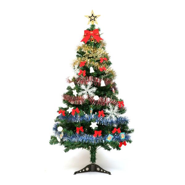 1.5 m Christmas Tree Set Hanging Bow Ribbon Ribbon Snowflake Star Christmas Birthday Celebration Gift MTC013