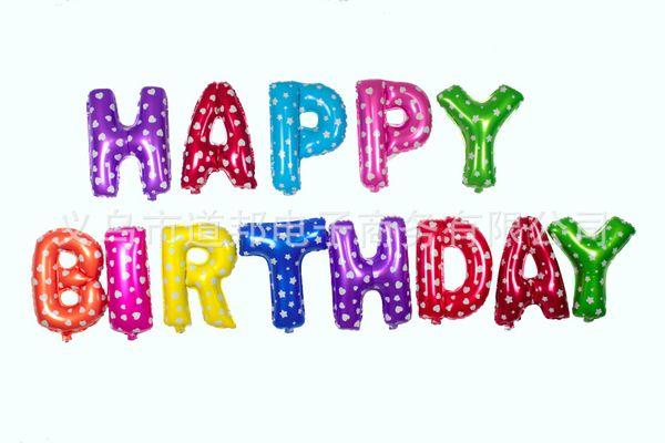 Balonlar Mutlu Doğum Günü Için Mektup Alüminyum Filmi Parti Doğum Günü Düğün Lover Seti Balon Dekorasyon Arka Plan Parti