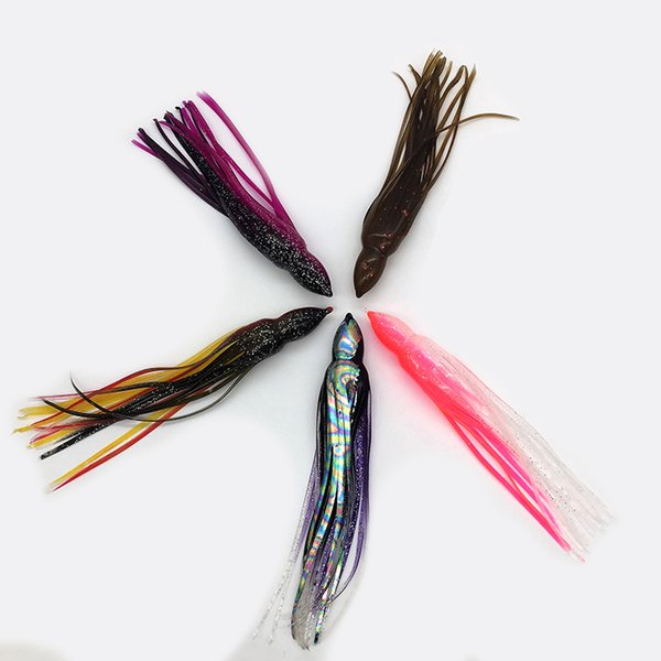 Weiyu Fishing Lure 6.5inch/16.5cm Soft Plastic Octopus Skirt without Eyes Colormix Saltwater Octopus Bait For Fishing