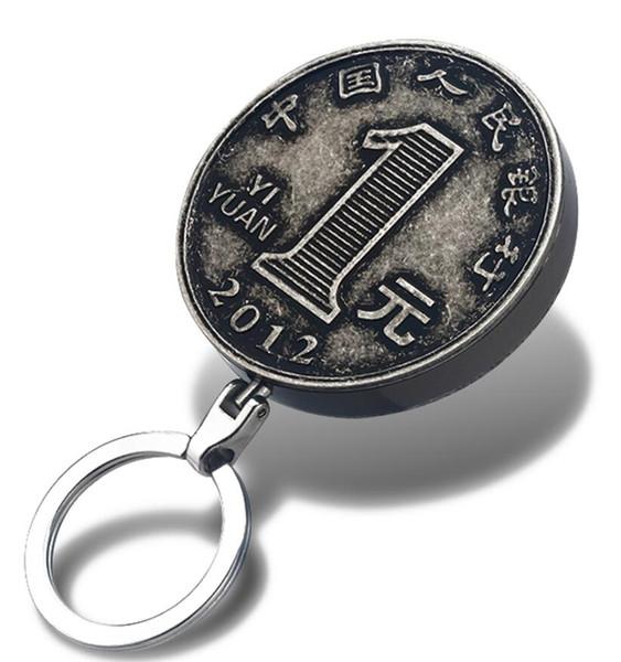 Mode kreative Schlüsselanhänger tragbare flammenlose winddicht Metall Münze Feuerzeug USB wiederaufladbare elektronische Clipper leichter Donner