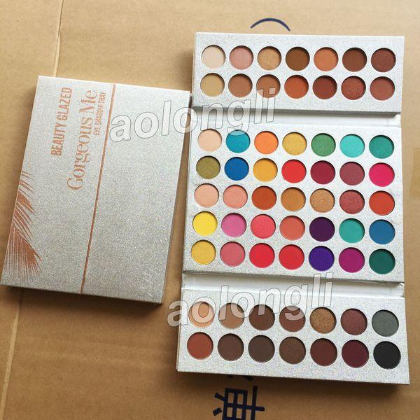 Новые красоты Глазированные 63 цветов палитры Eyeshadow Gorgeous Me макияж палитра тени глаза водонепроницаемый порошок Природные Пигментные Nude Face Cosmetic