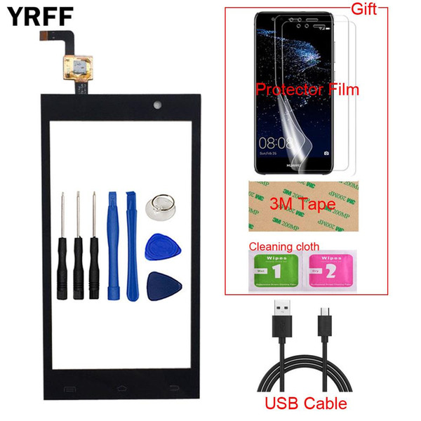 """4.5"""" Mobile TouchScreen Touch Screen For Micromax A104 Touch Screen Capacitive Sensor Glass Panel Digitizer Repair Tools + Gift"""