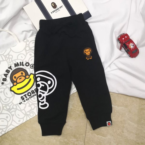 Wholesale Children Trousers 2018 Autumn New Product Cartoon Printing Pure Cotton Casual Pants Fashion Tide Slacks