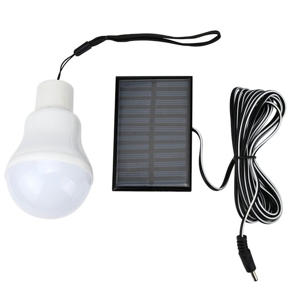 3W Portable Solar Lights Charged Solar Panels Bulb Outdoor Camping Light Emergency Lamp LED Home Outdoor Garden Night Lighting White