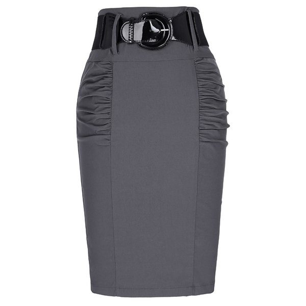 2018 Sexy party pencil Skirts Womens Business Work Office Skirt sashes High Waist Elastic Bodycon Slim Fitting Ladies Skirts D1891705