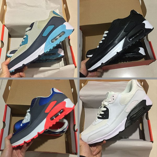 Großhandel Nike Air Max 90 Sneakers Schuhe Klassische 90 Junge Mädchen Kinder Kinder Laufschuhe Schwarz Rot Weiß Sport Trainer Kissen Oberfläche