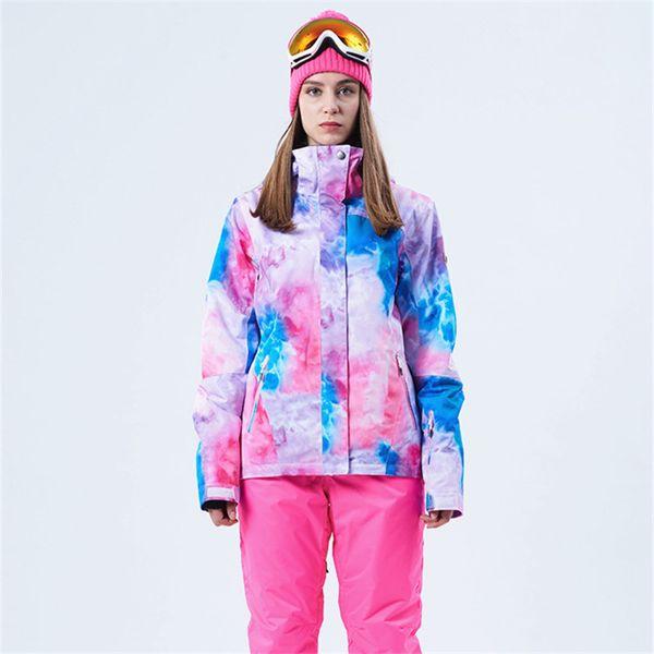 Winter Women Ski Jacket Waterproof Windproof Outdoor Mountain Coat Thicken Breathable Female Warm Skiing Jacket Hot Sales