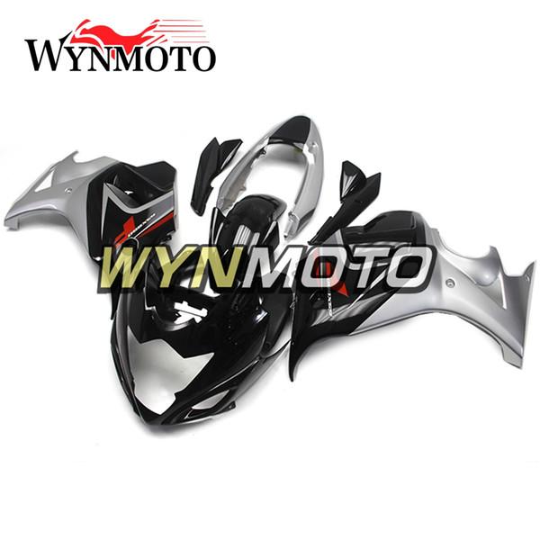 Carenados completos para Suzuki GSX650F Katana 2008-2013 08 09 10 11 12 13 Molde de compresión Kit del cuerpo Motocicleta Carenado Funda Negro Plata