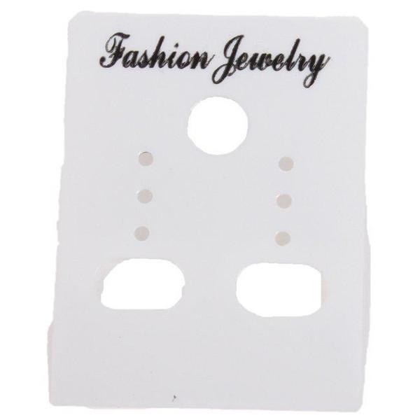Gli orecchini su ordinazione bianchi dei monili di all'ingrosso-commercio 540pcs / lot adattano le schede di plastica delle etichette di visualizzazione 4 * 3mm 260331 di trasporto libero
