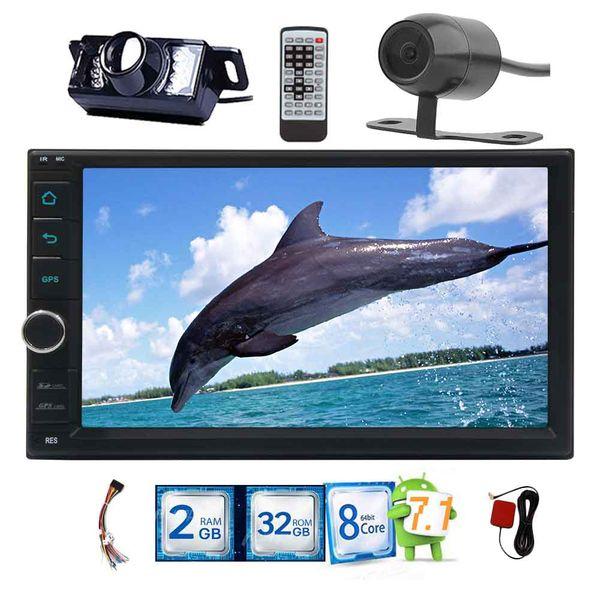 Android 7.1 Voiture NO DVD Radio Stéréo 7 '' Écran Tactile Capacitif HD 1080 P GPS Navigation Vidéo Lecteur Multimédia 2 Go + 32 Go Wifi À Distance