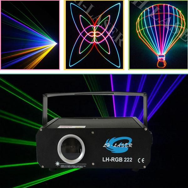 Лазерное световое шоу с аналоговой модуляцией RGB анимации 500 мВт / DMX, лазер ILDA / свет диско / лазерный прожектор