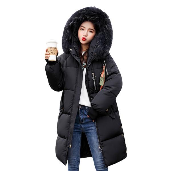 Acheter 2018 Nouveaux Manteaux D'hiver Femmes Manteaux D'hiver Parka Veste Chaude Épais Long Rembourré Mince Manteau En Duvet Femme Winbreak De $50.79