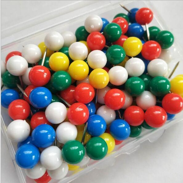 top popular 200pcs  set 3 8 Inch Map Push Pins, Thumb Tacks Used on Cork Boards or Maps 2021