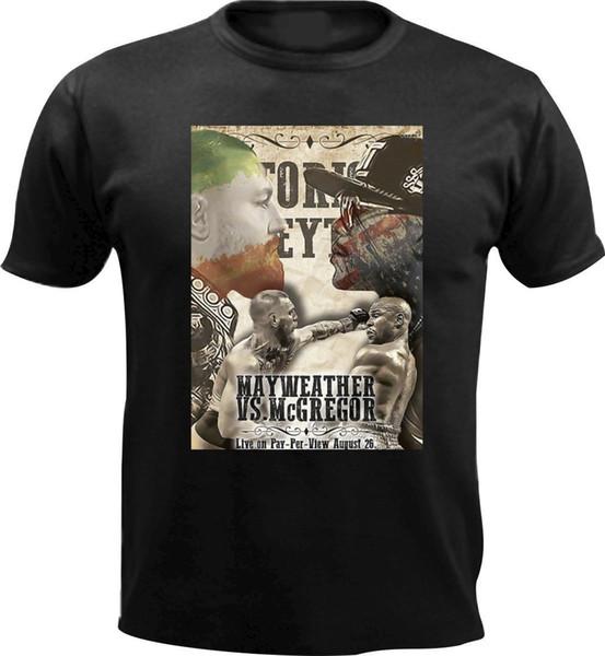 Divertente Conor Mcgregor Mayweather Uomini T Shirt Design Regalo di compleanno Sport Boxe Cool Casual Pride T Shirt Uomo Unisex New Fashion