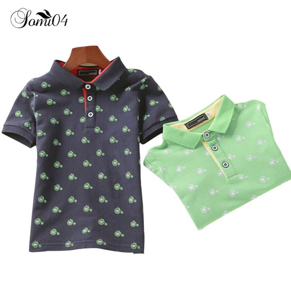 3 -11 Years Kids Boy Print Polo Shirt 2018 Fashion Children Clothing Cool Summer Soft Cotton Permeability Child Short Sleeve Tops
