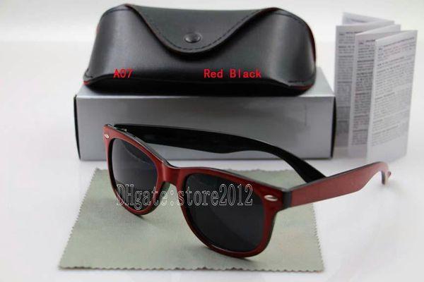 red black frame black lens