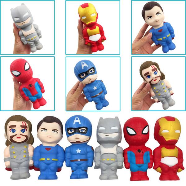 Compre Vingadores Da Marvel Herói Squishies Desenhos Animados Brinquedos Squeeze Lenta Nascente Spiderman Homem De Ferro Capitão América Superman Thor
