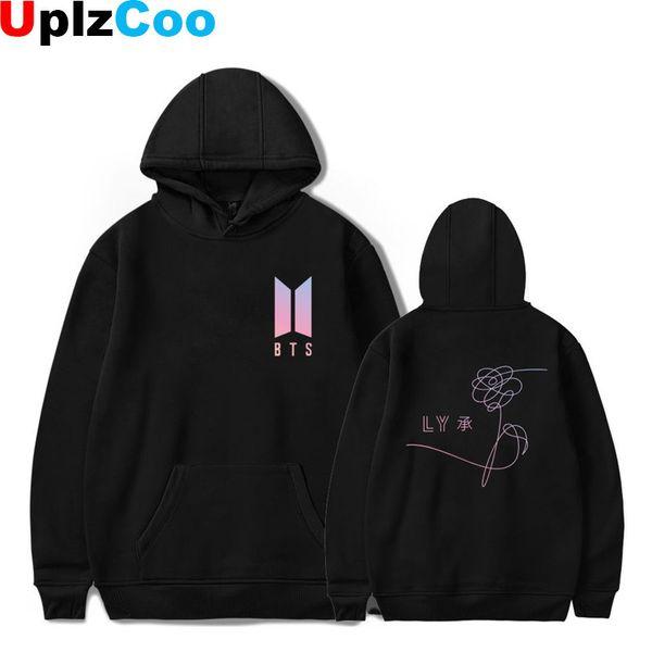 UplzCoo Young Lovers BTS Hip Hop Love Yourself Harajuku Kpop Sweatshirt Bangtan Boys Fashion Hoodies Winter Autumn Clothes OA005