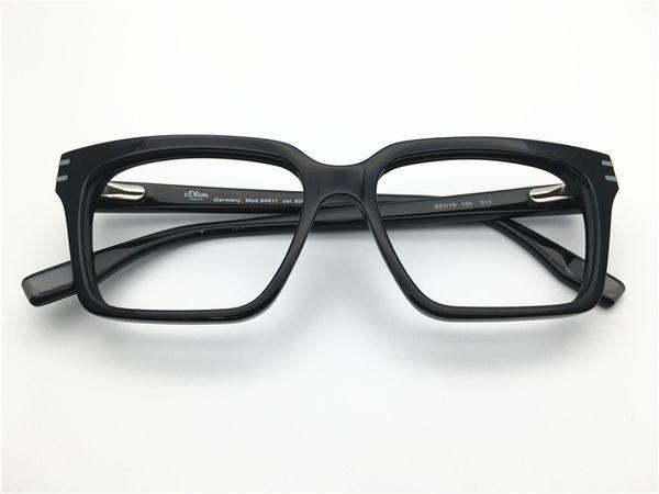 Brand Germany design acetate classical top quality men optical frame spectacle frame optical Clear prescription Lenses spring hinge oculos