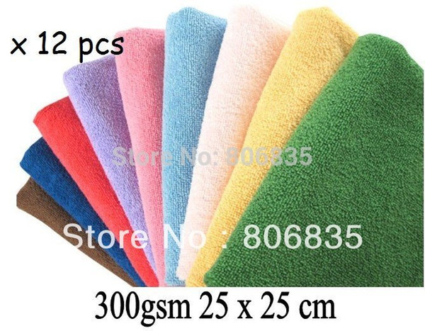 300gsm 25 x 25cm Microfiber Cleaning Cloth,Wiping Rags,Microfibre Lens Screen Eyeglass Camera Towel,Household Cleaning Products