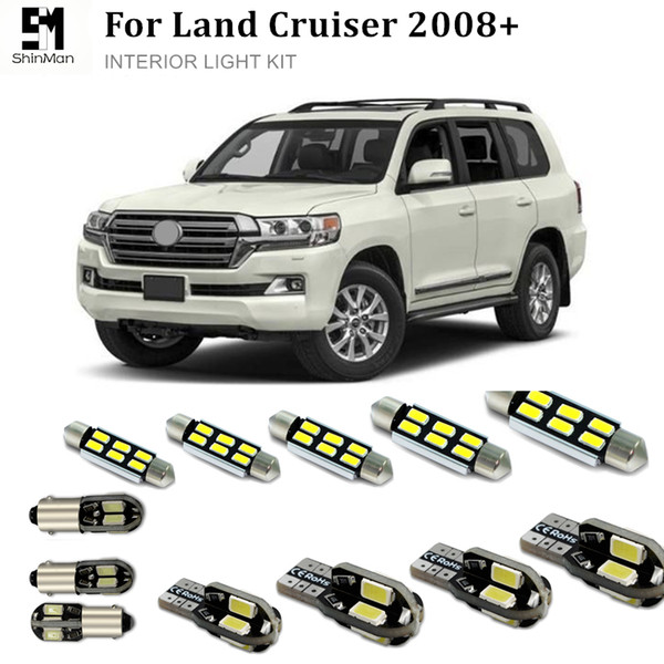 2019 Shinman 16x Error Free Car Led Bright Vehicle Interior Lights Kit Package For Toyota Land Cruiser 2008 Interior Led Kits From Molls 23 12