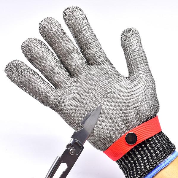 FGHGF respirant confortable sécurité coupe coup de couteau résistant à l'abrasion en acier inoxydable en métal maille gants anti-coupants