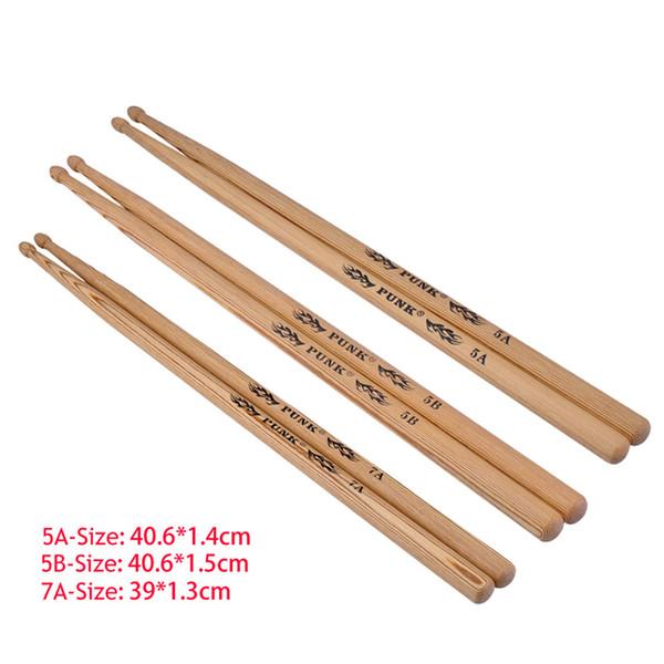 top popular Wooden Drum Sticks Wood Tip Drumsticks for Japan Ash 5A 5B 7A 2021