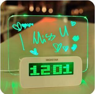 Simples vida LEVOU relógio despertador luminescente placa de mensagem relógio de moda criativa dom relógio digital