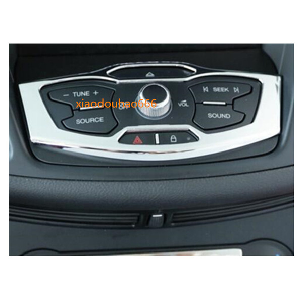 car styling ABS chrome garnish detector dashboard meter Instrument Panel Swtich frame moulding 1pcs For Ford Kuga 2013 2014 2015 2016