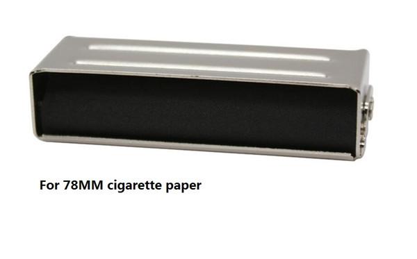 free shipping 78MM Hand Roller Portable Metal Cigarette Rolling Machine maker for 78MM cigarette rolling Paper Holder Tobacco Roller Tin