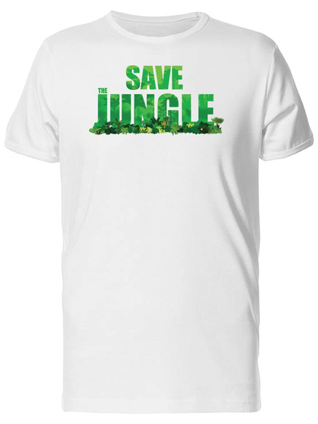 Save Jungle / Pattern Men's Tee -Image by Shutterstock 2018 Male Short Sleeve Top Tee Free Shipping Summer Fashion t shirt