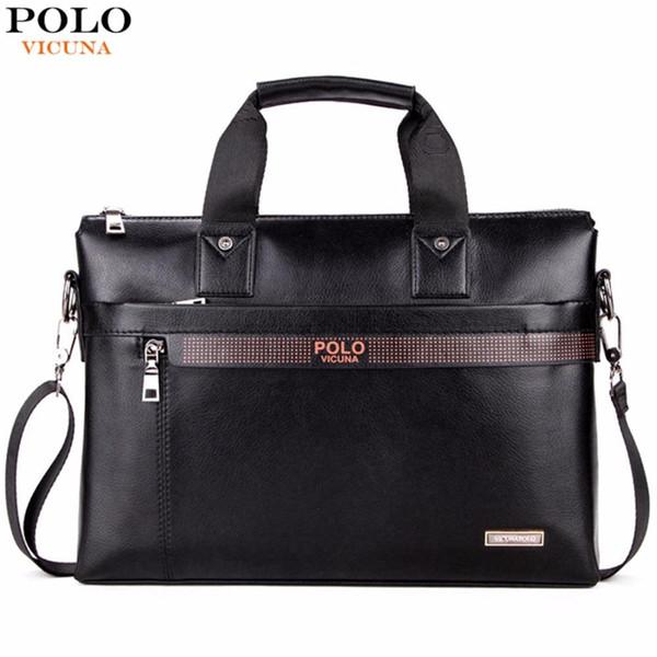 Compre Top Sell Fashion Simple Dot Marca Famosa Hombres De Negocios Maletín Bolsa De Cuero Laptop Bag Casual Hombre Bolsos De Hombro A $22.65 Del