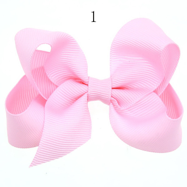12pcs New Ribbon Bow clip Girl little hair top clips Dot solid Printed Bow Hairpin for Baby Children accessories for hair gift HC060-2
