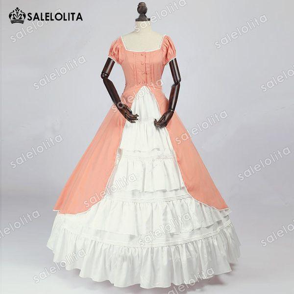 Compre Vestido De época De Dama De Honor Renacimiento Colonial Caliente Vestido De Fiesta Vestido De Bola Renacimiento Vestido De Belle Del Sur Ropa